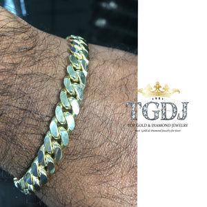14k Yellow Gold 8.3mm Wide Miami Cuban Bracelet